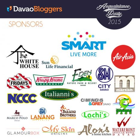 Davao Bloggers Acquaintance Party 2015 Sponsors