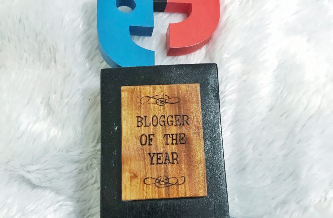 Davao Blog Awards 2016 Blogger of the Year Trophy by House of Wooden Letters