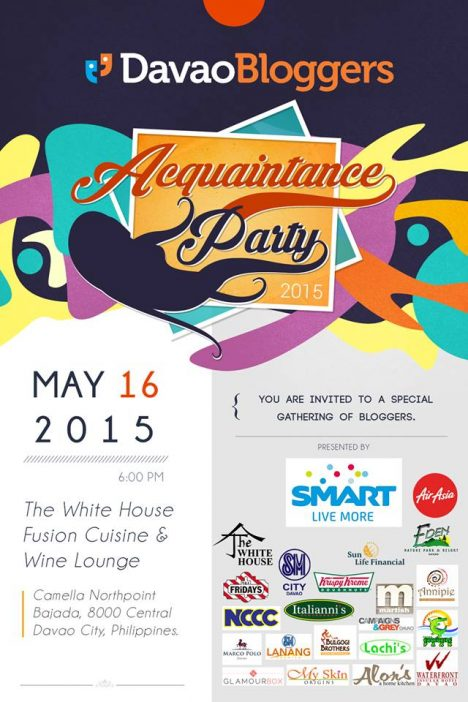 Davao bloggers acquaintance party 2015