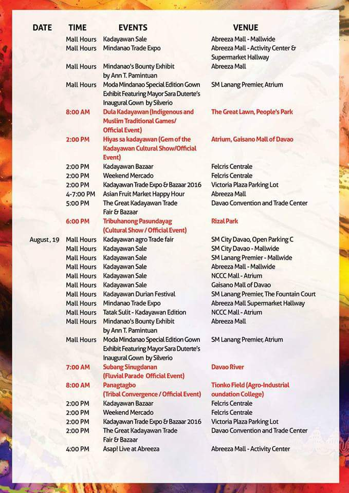 kadayawan 2016 schedule of events 3