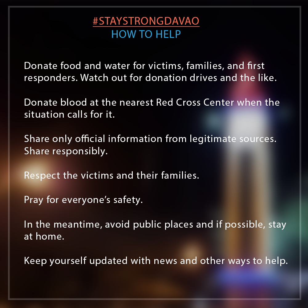 stay strong davao how to help